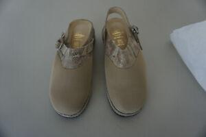orthopaedische-MOLLITER-Damen-Sandale-Sommer-Schuhe-Clogs-Gr-38-Beige-Leder-NEU