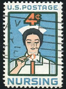 POSTAGE-STAMP-NURSING-USA-VINTAGE-PHOTO-ART-PRINT-POSTER-PICTURE-BMP1081A