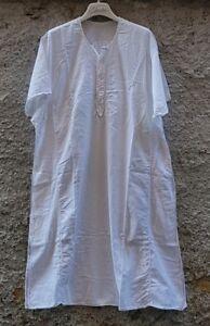 Tunica in cotone bianco c/ ricamo dietro-tasche e bottoni - MyBatua - Kurta