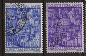 ITALY-1950-Holy-year-Used-Sc-535-536-Sa-620-621