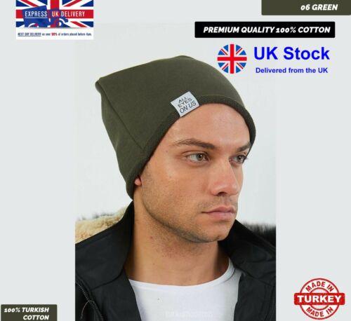 100/% Coton Pour Homme Et Femmes Slouch Beanie Hat Cap unisexe ✓ skateb ✓ hiver ✓ Style