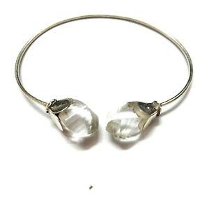 Crystal-Stone-Natural-Gemstone-925-Sterling-Silver-Bracelet-7-8-034