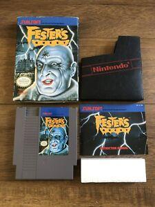 Festers-Quest-Nintendo-NES-Complete-in-Box-CIB-Game-w-manual-and-box