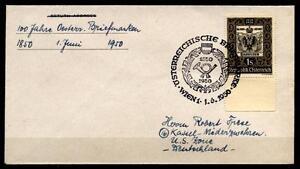 100 ans AUTRICHIENNE TIMBRE. FDC-lettre. Autriche 1950-e Briefmarke. FDC-Brief. Österreich 1950afficher le titre d`origine PIhbmU3O-07140409-531047930