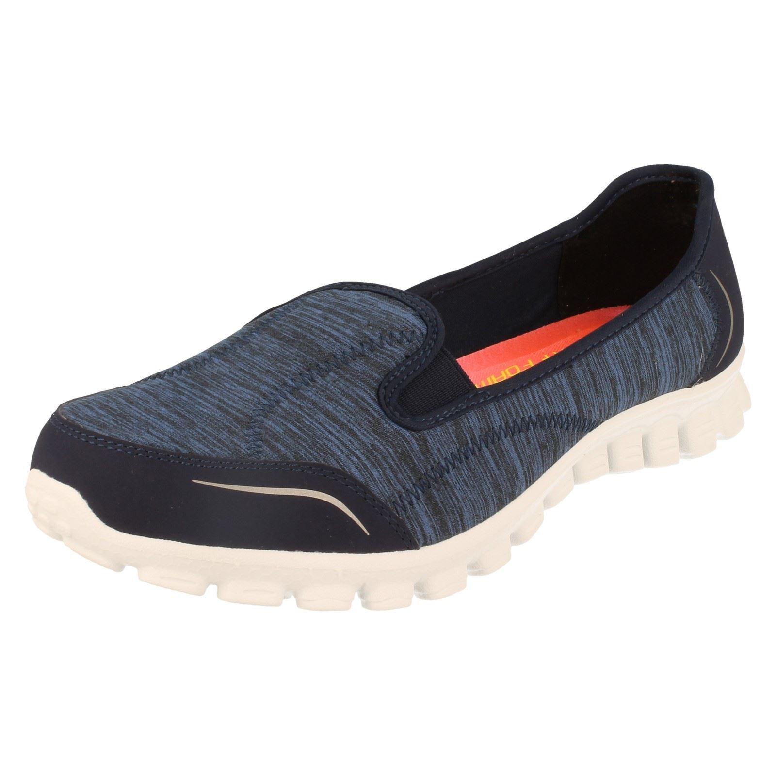 LADIES SKECHERS EZ FLEX 2 ENCOUNTER SLIP ON MEMORY FOAM TRAINERS Schuhe 22641