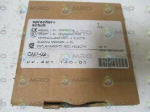 NEW IN BOX * SPRECHER+SCHUH CM7-02 MECH EL INTERLOCK