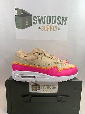 Nike Air Max 1 SE Women's New Desert Ore Pink Lifestyle Sneakers 881101 202 | eBay