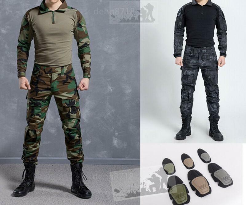 Hombres para exterior Typhon Typhon Typhon táctico de Airsoft Gen3 G3 traje de combate Camiseta Pantalón uniforme BDU bbb163