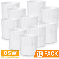 10 X White Pleated Easy Care Non-woven Chef's Restaurant Hotel Kitchen Top Hat