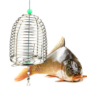 Stainless Steel 3-Size Wire Fishing Lure Cage Fish Outdoor Acc Bait Lure E7Z0