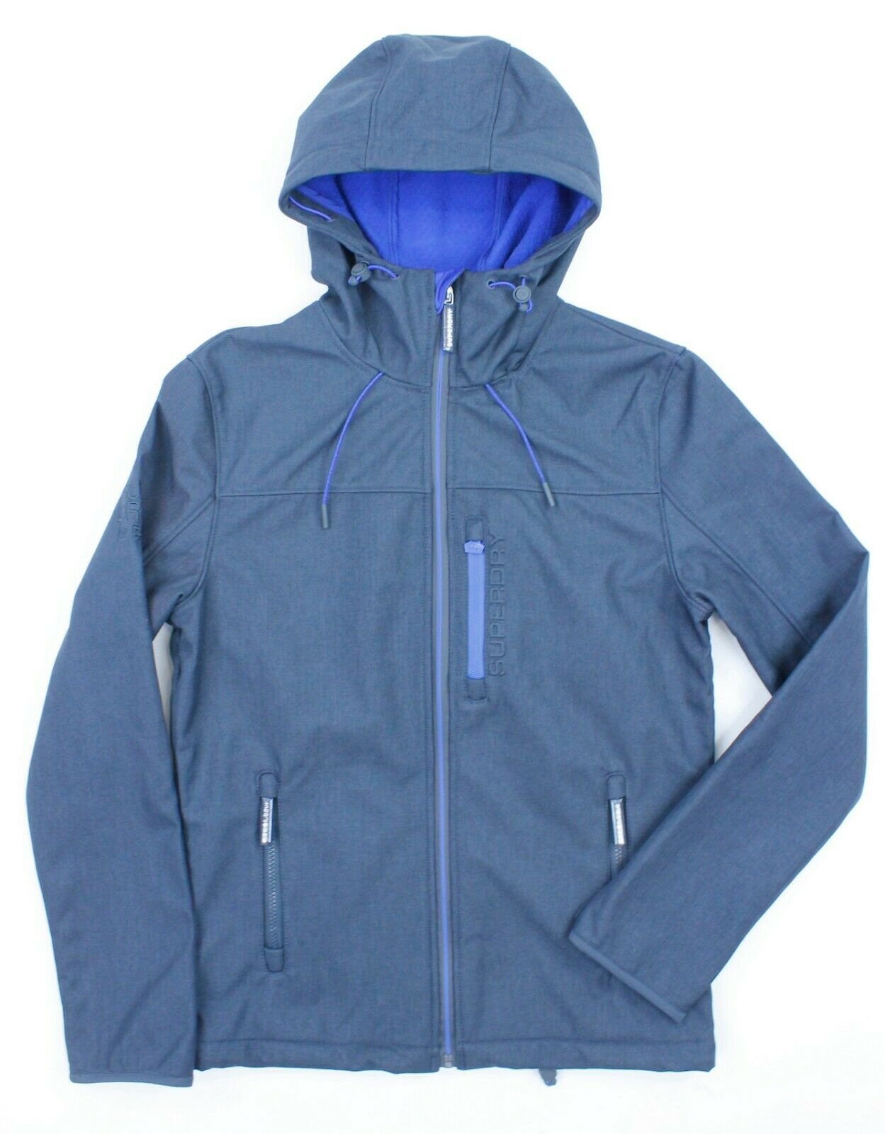 Superdry - Hooded Windtrekker in bluee Marl - S - NEW WITH TAGS RRP