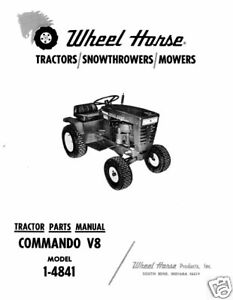 Wheel-Horse-Commando-V8-Parts-Manual-Model-1-4841