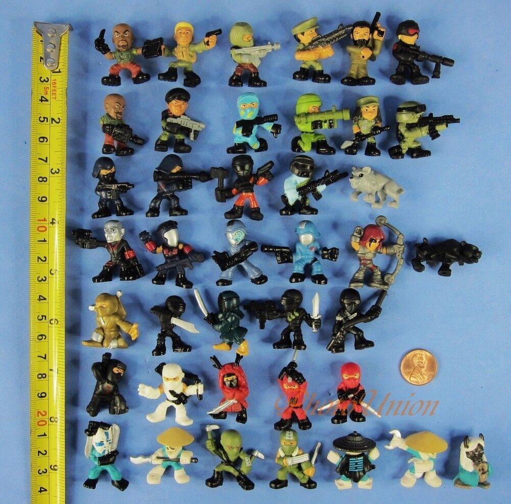 Hasbro Micro Force G I JOE Hero v Cobra Figure Toy 40pc Cake Topper K1014_K1015