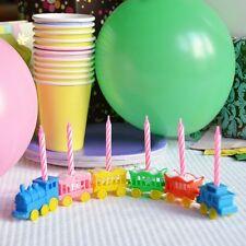 Vintage Animal Train Candleholder Set Cake Topper Birthday Shower Pink Candles