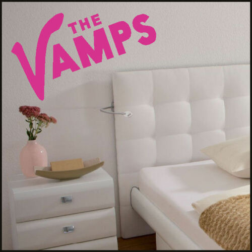 LARGE THE VAMPS LOGO TRANSFER  WALL STICKER  5 SIZES A4 A3 UPTO 1.6M