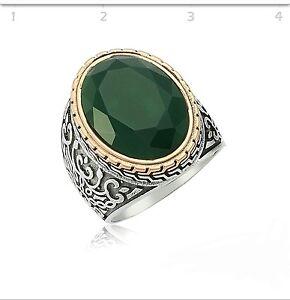 Bague homme or et jade
