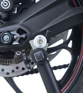 Triumph-Street-Triple-675-R-White-Cotton-Reels-Paddock-Stand-Bobbins-R-amp-G-Racing