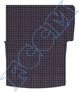 VW VOLKSWAGEN CRAFTER 2006 ON TAILORED FLOOR VAN MATS CARPET BLACK MAT BLUE TRIM