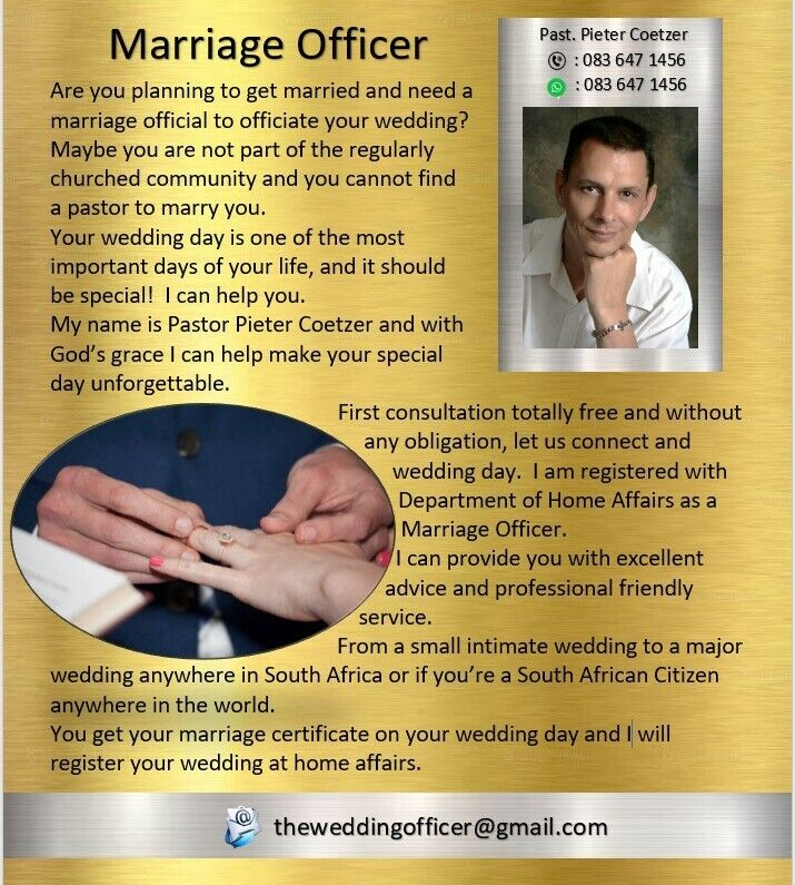 Wedding / Marriage Officer