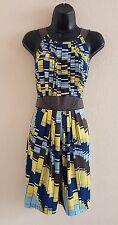 Beautiful NWOT BCBG MAXAZRIA Multi-Color Sleeveless Dress Size M