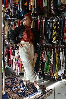 Cosciente Zogbaum Camicette Berlino Estate Pantaloni Tessuto Pantaloni High Waist 80er True Vintage 80s-mostra Il Titolo Originale Materiali Superiori