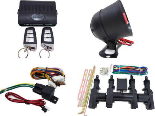 High Quality Car Alarm Remote Siren /& Full Set Central Locking Kit 4 Doors 5