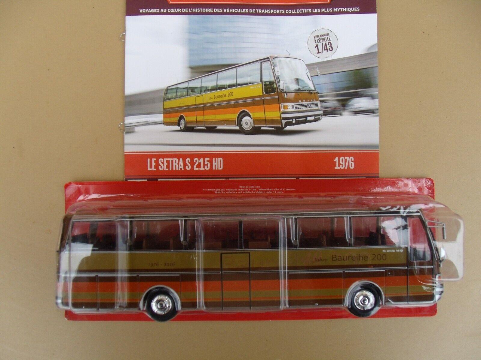 n° 46  SETRA S 215 HD Année 1976  Autobus et Autocar du Monde 1/43 Neuf