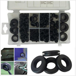 170 X Car Offroad Rubber Grommet Firewall Hole Plug Electrical Wire Gasket Black