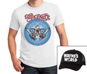 image is loading aerosmith t shirt wayne 039 s world hat