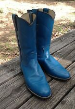 WOMENS JUSTIN TURQUOISE LEATHER ROPER COWBOY WESTERN BOOTS USA SIZE 7 B