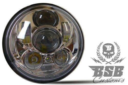 """LED SCHEINWERFER 5,75/"""" mit Standlicht Harley Davidson DYNA Street Bob  CHROME"""