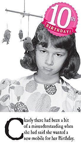 Emotional Rescue age 10 Birthday Girl Card