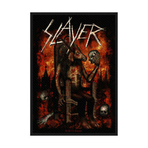 SLAYER-Devil-On-Throne-Woven-Sew-On-Patch-Official-Licensed-Band-Merch-Metsl-New