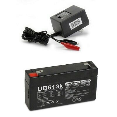 UPG 6V 1.3AH Battery for SONNENSCHIEN A206//1S A506//1.2S WITH CHARGER