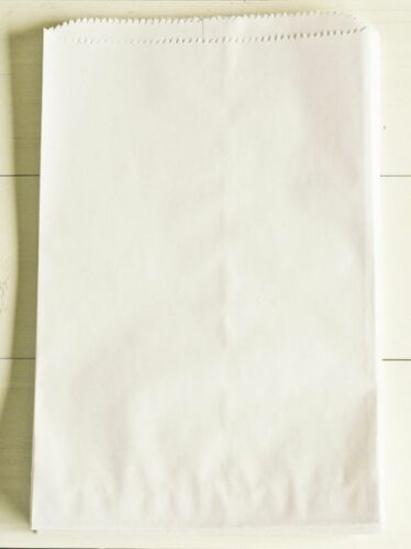 100 6x9 WHITE Flat Paper Merchandise KRAFT Bags Party Favor TREAT Gift RETAIL