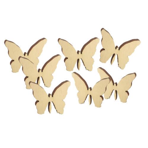 Holz Schmetterlinge 36 Stk 5x4,5cm Streudeko Holz Tischdeko Hochzeit Streuteile
