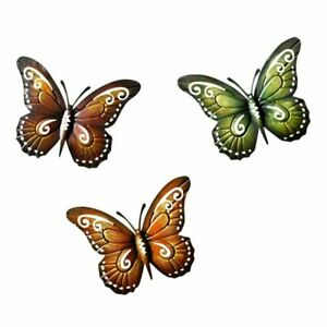 Metal Erfly Wall Decor Colored