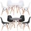 DSW-Round-Dining-Table-Eiffel-Style-Lounge-Bar-Modern-Designer-60-or-80cm thumbnail 9
