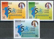 Bahrain 1998 ** Mi.657/59 WHO Gesundheit Health Medizin Medicine