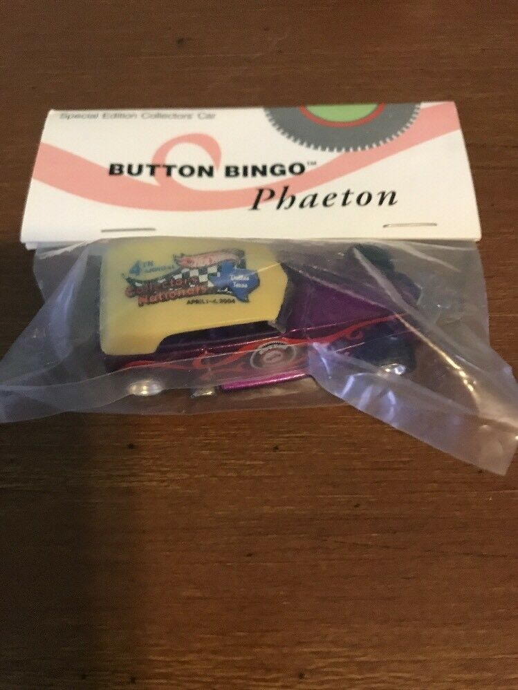 Hot Wheels 4th Annual Collectors Nationals Button Bingo Purple Phaeton