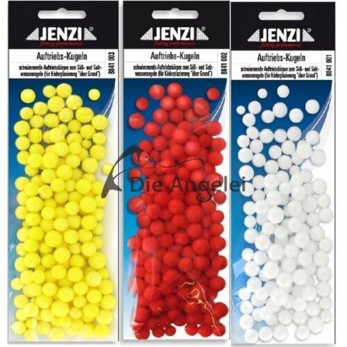 Jenzi Styropor Auftriebskugeln Pop Up Kugeln gelb rot oder weiß