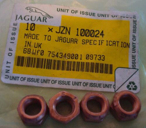 4 NEW JAGUAR XJS 95 96 DOWNPIPE TO EXHAUST MANIFOLD LOCKING NUTS NUT JZN100024