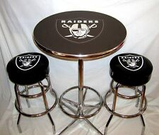 Imperial nfl pub table oakland raiders ebay 2 oakland raiders nfl bar stools table watchthetrailerfo