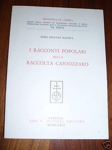 racconti popolari della Raccolta Cannizzaro / Dora Siracusa Ilacqua