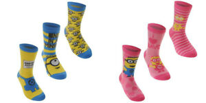 Despicable Me Official Childrens//Kids Minions Ankle Socks Pack Of 3