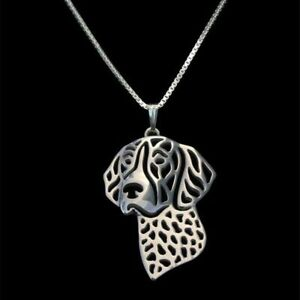 2020-Gold-Silver-German-Shorthaired-Dog-Pendant-for-Pet-Lover-Chain-Necklace