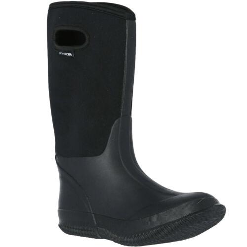 Trespass Homme Hamilten Imperméable Outdoor Wellies Wellington bottes-noir