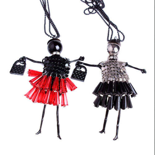 Beads Dress Doll Necklace Long Chain Fashion Sweater Jewelry 5 Colors、 si