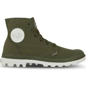 NEW-IN-BOX-PALLADIUM-Blanc-Hi-Unisex-Dark-Olive-White-Lace-Up-Hiking-Boots