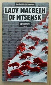 Lady Macbeth of Mtsensk programme English National Opera (ENO) 1987 Stuart Kale